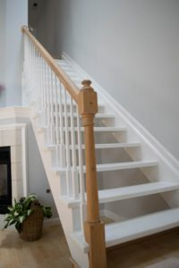 Staircase before stair life installed