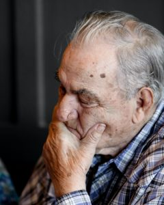 Elderly man with dementia
