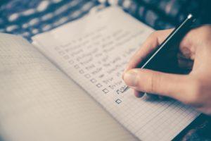 Checklist for planning