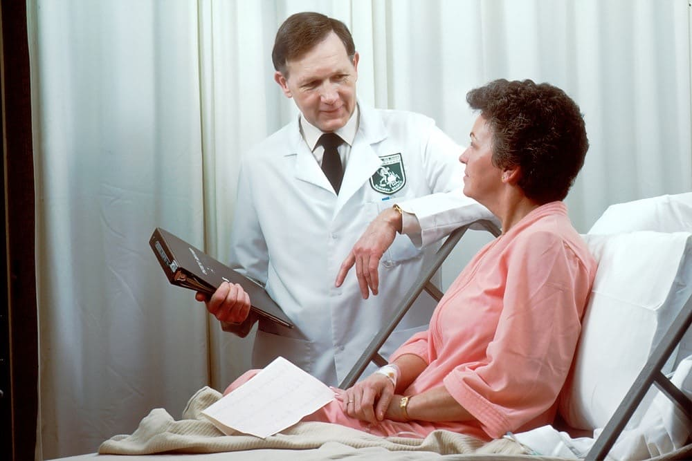 Doctor with an elderly patient