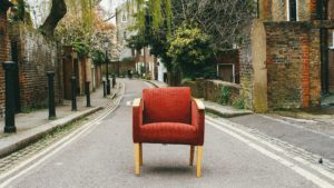 A chair in the street