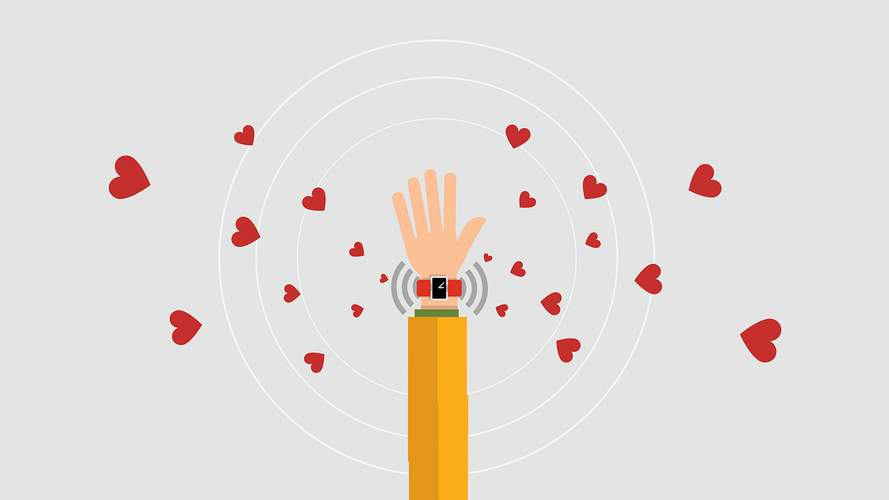 A smartwatch gives off vibes of love