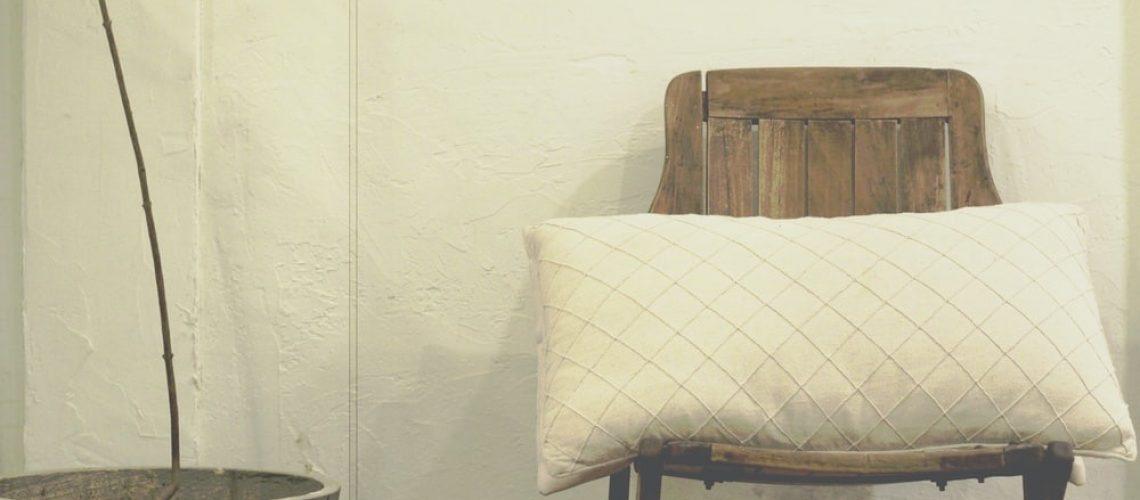 Chair with a cushion