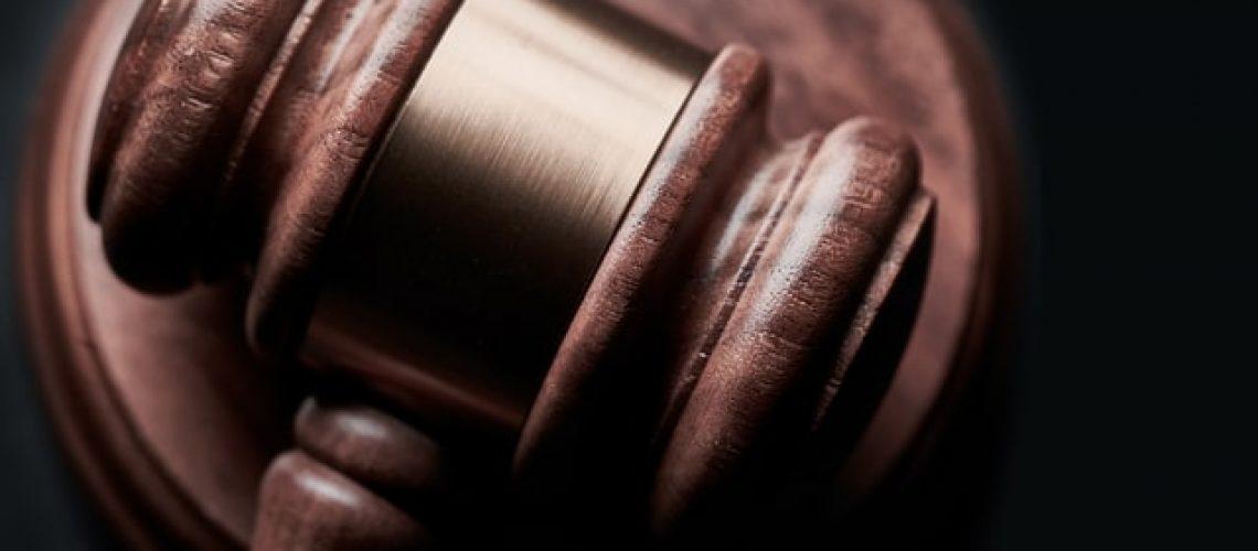 Gavel of court room