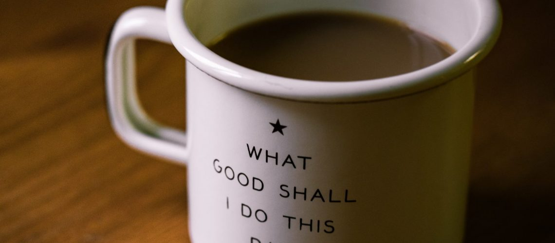 a cup of coffee with the inspirational quote for caregivers